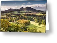 Eildon Hills   Greeting Card