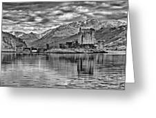 Eilean Donan - A Reflection Without Colour Greeting Card