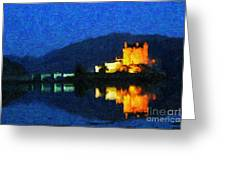 Eilean Donan At Night Greeting Card