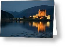 Eilean Donan Castle At Night Greeting Card