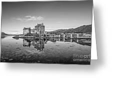 Eilean Donan Castle Black And White Greeting Card