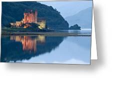 Eilean Donan Castle Dusk Greeting Card