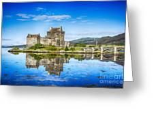 Eilean Donan Castle Reflections 2 Greeting Card