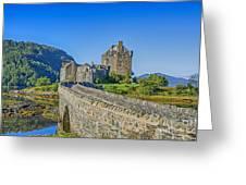Eilean Donan Castle Walkway Greeting Card