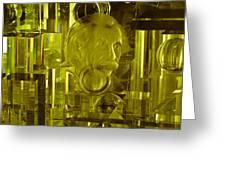 Einstein In Crystal - Yellow Greeting Card