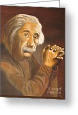 Einstein - Original  Oil Painting Greeting Card