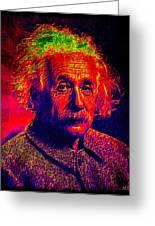 Einstein - Pop Art Greeting Card