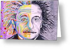 Einstein's Art And Science  Greeting Card