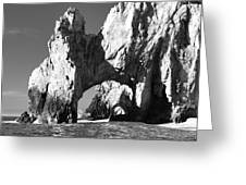 El Arco In Black And White Greeting Card