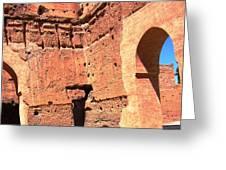 El Badi Palace 5 Greeting Card