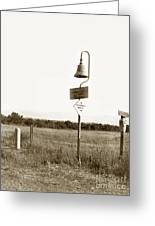 El Camino Real Mission Bell Near San Fernando Mission California 1906 Greeting Card