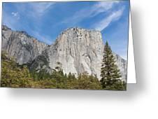 El Capitan And The Wall Of Granite Greeting Card