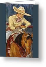 El Esperar Del Charro Greeting Card