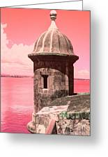 El Morro In The Pink Greeting Card