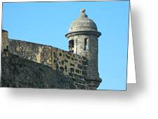 El Morro Parapet 1 Greeting Card