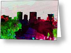 El Paseo City Skyline Greeting Card