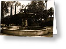 El Paso And Southwestern Rr Depot Fountain Tucson Arizona 1978 Greeting Card