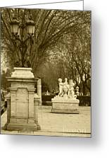El Prado Boulevard Madrid Spain Greeting Card