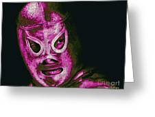 El Santo The Masked Wrestler 20130218m68 Greeting Card by Wingsdomain Art and Photography