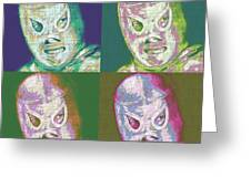 El Santo The Masked Wrestler Four 20130218 Greeting Card by Wingsdomain Art and Photography
