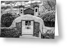 El Santuario De Chimayo Greeting Card by Lou  Novick