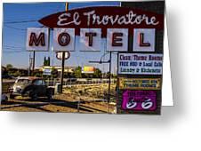 El Trovatore Motel Greeting Card