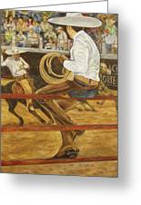 El Vaquero Que Ata Greeting Card
