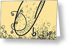 Elaborate Composition Of Letters A Greeting Card