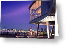 Elbe River With Waterfront Skyline Greeting Card