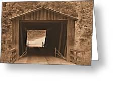 Elder Mill Covered Bridge Greeting Card