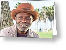Elderly Black Man Smiling Greeting Card