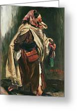 Elderly Moroccan Jew, 1867 Oil On Canvas Greeting Card