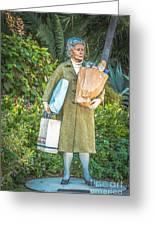Elderly Shopper Statue Key West - Hdr Style Greeting Card