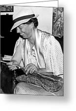 Eleanor Roosevelt Knitting Greeting Card