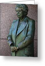 Eleanor Roosevelt Memorial Detail Greeting Card