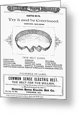 Electric Belt Ad Greeting Card