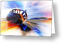 Electric Boat Greeting Card