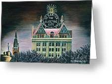 Electric City At Night Greeting Card