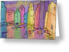 Electric City Greeting Card