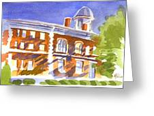 Electric Courthouse Greeting Card