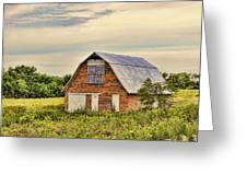 Electric Fan Quilt Barn Greeting Card