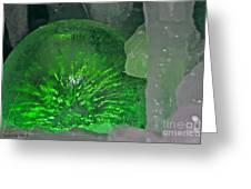 Electric Green Greeting Card