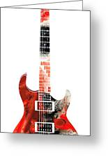 Electric Guitar - Buy Colorful Abstract Musical Instrument Greeting Card