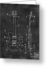 Electric Guitar Patent 039 Greeting Card