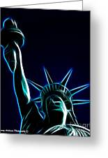 Electric Liberty Greeting Card