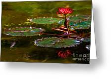 Electric Lily Pad Greeting Card