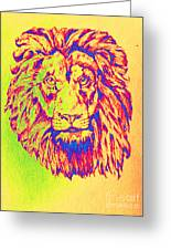 Electric Lion Greeting Card