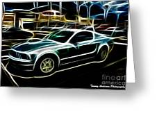 Electric Mustang Greeting Card
