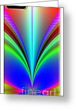 Electric Rainbow Orb Iphone Case Greeting Card