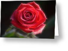 Electric Rose Greeting Card